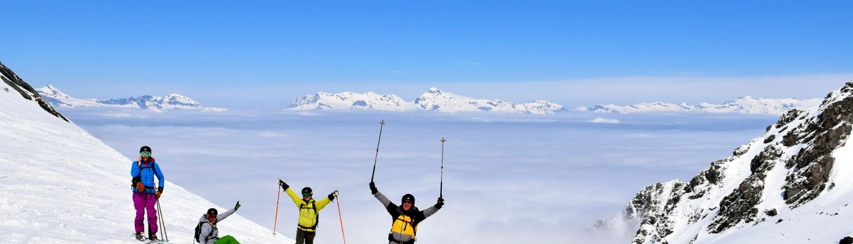 Skiing the Gentianes ski run
