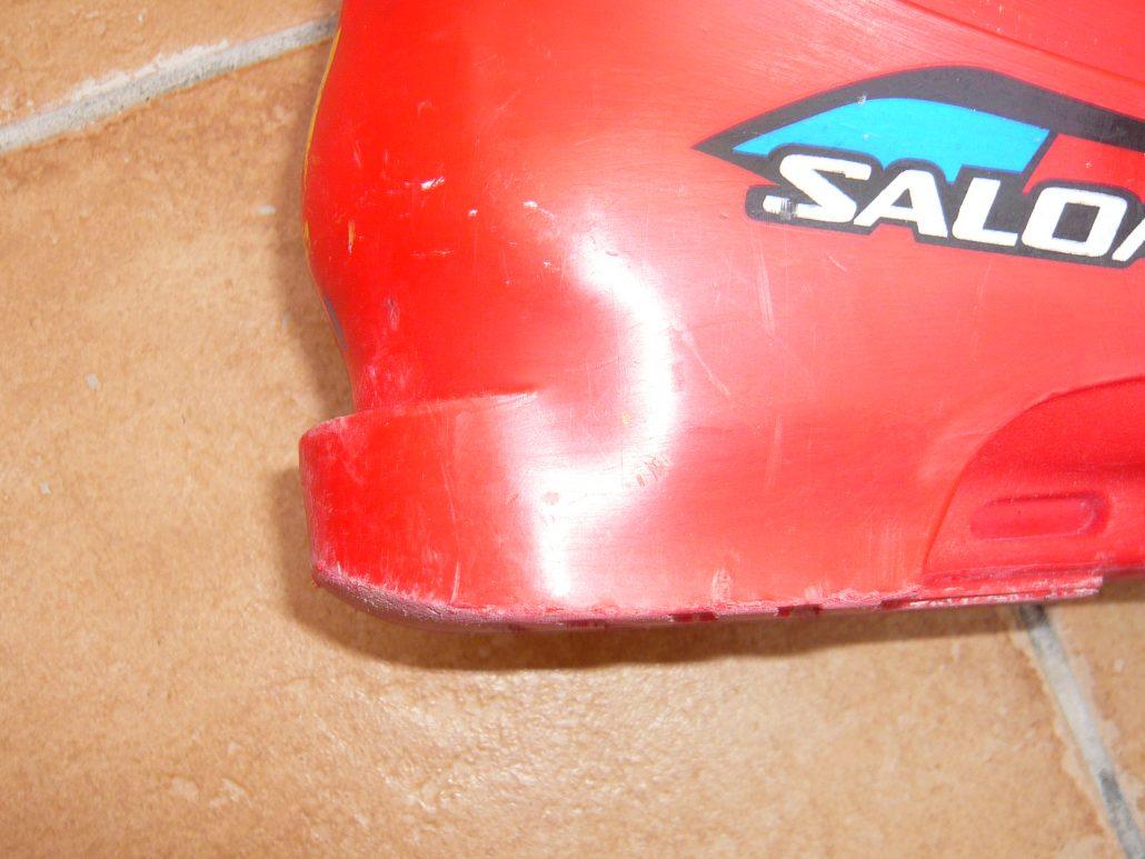 worn down ski boots